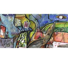 ARTIST IN ABSTRACT LANDSCAPE(C1998) Photographic Print