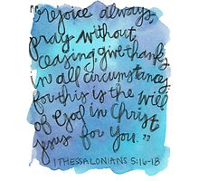 1 Thessalonians 5:15-18 Watercolor Print by Bumble & Bristle