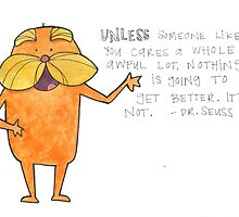 The Lorax Watercolor by Bumble & Bristle
