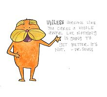 The Lorax Watercolor Photographic Print
