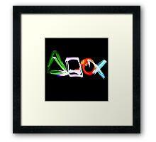Playstation Symbols Light Painting Framed Print