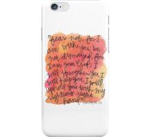 Isaiah 41:10 Watercolor Print iPhone Case/Skin