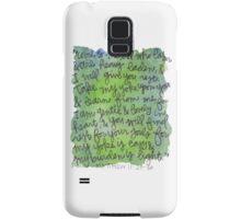 Matthew 11:28-30 Watercolor Print Samsung Galaxy Case/Skin