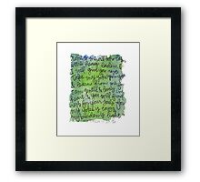 Matthew 11:28-30 Watercolor Print Framed Print