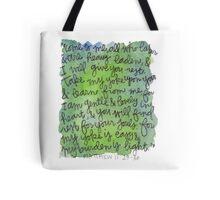 Matthew 11:28-30 Watercolor Print Tote Bag