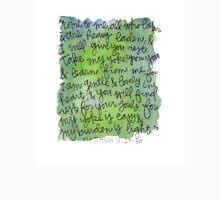 Matthew 11:28-30 Watercolor Print Unisex T-Shirt