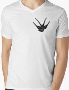 Black Swallow Mens V-Neck T-Shirt