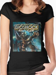 Bioshock Big Daddy Women's Fitted Scoop T-Shirt