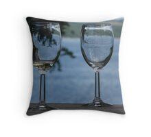 Wine tasting-Miles Wine Cellars-168 Randall Crossing Road, NY on Seneca Lake Throw Pillow