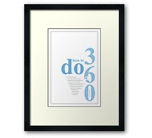 how to do a 360 snowboarding Framed Print