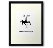 Experiment In Progress - Soccer Framed Print