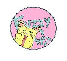 YELLOW CAT FUZZY CAT by Newtown