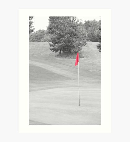 red flag Art Print