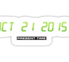 Oktober 21 2015 (Back to the Present) Sticker