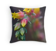 Happy Flowers.. Throw Pillow