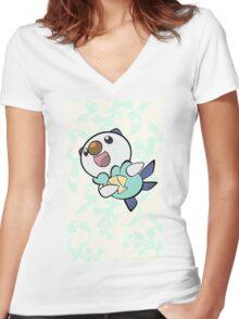 Fancy Oshawott Women's Fitted V-Neck T-Shirt