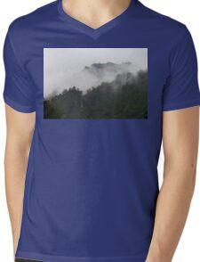 Foggy Mountains Mens V-Neck T-Shirt