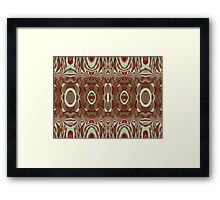 Fun with patterns and shapes Framed Print