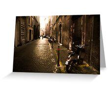 Roma Street Scene Greeting Card