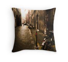 Roma Street Scene Throw Pillow