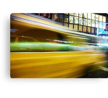 Yellow Cab Canvas Print