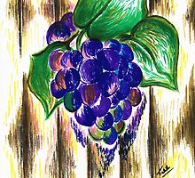 Ripened Grapes by Teresa White