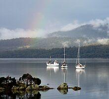 End of the Rainbow - Tamar River, Tasmania by Ruth Durose