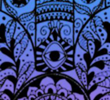 Purple Blue Ombre Hamsa Sticker