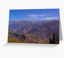 Peruvian Highlands Greeting Card