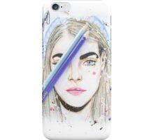 Cara Delevingne Draw iPhone Case/Skin