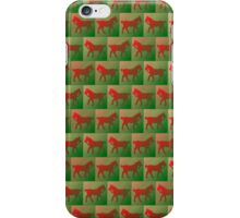 Red horses pattern iPhone Case/Skin