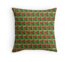 Red horses pattern Throw Pillow
