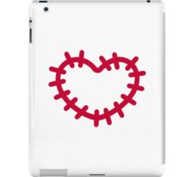 Red heart patch iPad Case/Skin