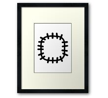 Patch clothes Framed Print