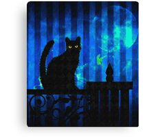 Cat at Dusk Canvas Print