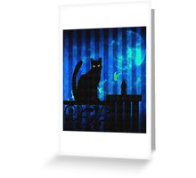 Gothic Cat Greeting Card