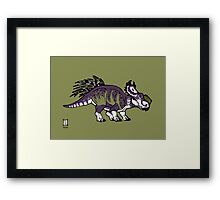 Purple and Green Pachyrhinosaurus Framed Print