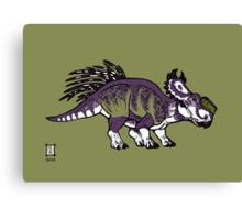 Purple and Green Pachyrhinosaurus Canvas Print