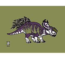 Purple and Green Pachyrhinosaurus Photographic Print