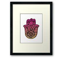 Pink Orange Ombre Hamsa Framed Print
