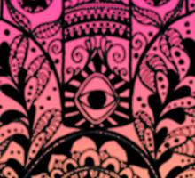 Pink Orange Ombre Hamsa Sticker