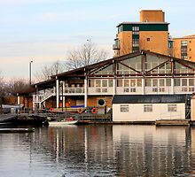 Clubhouse at Millwall Docks by Dave Law