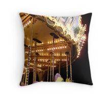 The Magic Carousel Throw Pillow
