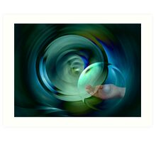 Caring for water Art Print