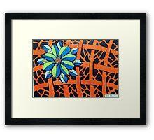 416 - FLORAL DESIGN 14 - DAVE EDWARDS - COLOURED PENCILS - 2015 Framed Print