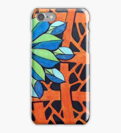 416 - FLORAL DESIGN 14 - DAVE EDWARDS - COLOURED PENCILS - 2015 iPhone Case/Skin