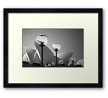 Lights At The Opera House Framed Print