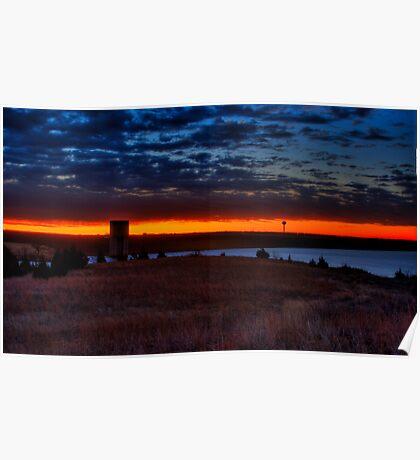 Sunrise at Lake Arcadia! Poster