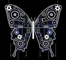 Geometric Butterfly Design by Mel Barrett