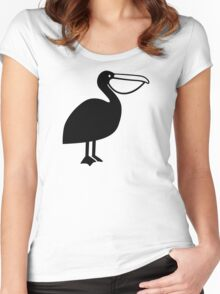 Pelican bird Women's Fitted Scoop T-Shirt